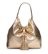 Camden Large Metallic-Leather Drawstring Shoulder Bag - ONE COLOR - 30S4MMDE3M