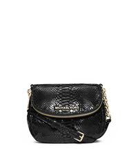 Bedford Python Pattern-Embossed Patent-Leather Crossbody - ONE COLOR - 32S4GBFC2G