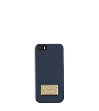 Saffiano Leather Phone Case For iPhone 5 - NAVY - 32S4GELL1L