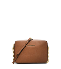 Jet Set Large Saffiano Leather Crossbody - LUGGAGE - 32S4GTVC3L