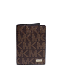 Jet Set Men's Logo Passport Wallet - BROWN - 39S4MMNV2B