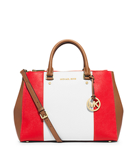 Sutton Large Color-Block Saffiano Leather Satchel - ONE COLOR - 30T4GJTS7L