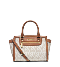 Selma Logo Medium Satchel - BROWN - Sold Out - 30T4GLZS2B