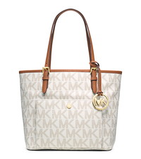 Jet Set Travel Medium Logo Tote - VANILLA - 30T4GTTT6B