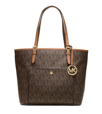 Jet Set Logo Large Tote - BROWN - 30T4MTTT7B