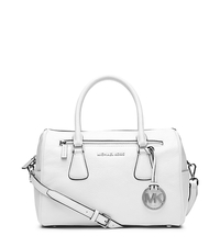 Sophie Large Top-Zip Satchel - OPTIC WHITE - 30T4SOHS7L