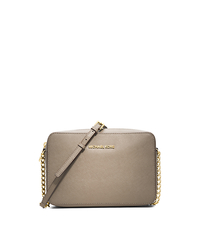 Jet Set Large Saffiano Leather Crossbody - DARK DUNE - 32S4GTVC3L