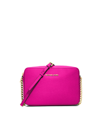 Jet Set Large Saffiano Leather Crossbody - RASPBERRY - 32S4GTVC3L