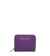 Jet Set Travel Medium Zip-Around Saffiano Leather Wallet - VIOLET - 32S4GTVZ1L
