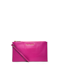 Bedford Large Leather Zip Clutch - RASPBERRY - 32T4GBFW7L