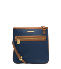 Kempton Leather-Trimmed Nylon Large Crossbody - NAVY - 32T4GKPC9C