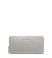 Jet Set Travel Saffiano Leather Continental Wallet - PEARL GREY - 32T4STVE7L