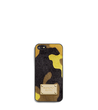 Camouflage Hair Calf Phone Case For iPhone 5 - ACID YELLOW - 32F4GELL1H