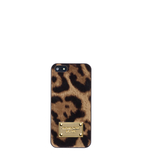 Mara Leopard Hair Calf Phone Case for iPhone 5 - LEOPARD - 32F4GELL1O