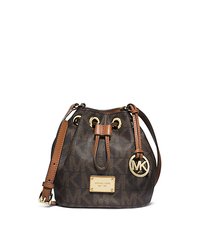 Jules Logo Drawstring Crossbody - BROWN - 32F4GJLC3B