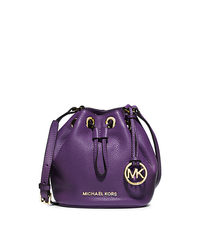 Jules Leather Drawstring Crossbody - VIOLET - 32F4GJLC3L