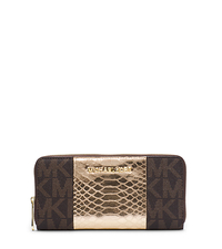Jet Set Travel Logo Snake Pattern-Embossed Leather Wallet - ONE COLOR - 32F4GJTZ3B