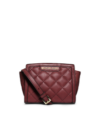 Selma Quilted Leather Mini Messenger - CLARET - 32F4GLQC1L