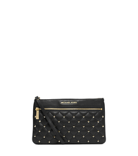 Selma Studded Leather Clutch - ONE COLOR - 32F4GLQC7L