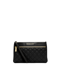 Selma Quilted Leather Clutch - ONE COLOR - 32F4GLQW3L