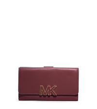 Florence Tri-Fold Leather Wallet - CLARET - 32F4GREF3L