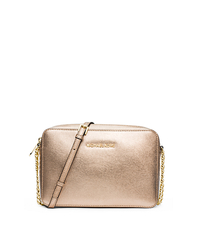 Jet Set Travel Metallic Saffiano Leather Crossbody - ONE COLOR - 32F4GTVC3M