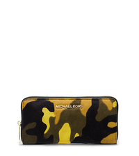 Jet Set Travel Camouflage Hair Calf Wallet - ACID YELLOW - 32F4GTVE3H