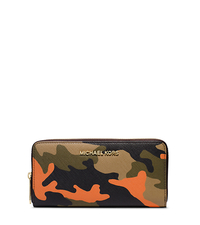 Jet Set Travel Camouflage Saffiano Leather Wallet - ONE COLOR - 32F4GTVE3R
