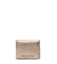 Jet Set Travel Metallic Saffiano Leather Card Holder - ONE COLOR - 32F4GTVF2M
