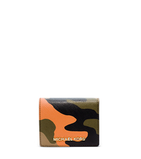 Jet Set Travel Camouflage Saffiano Leather Wallet - POPPY - 32F4GTVF2R