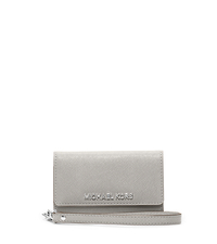 Saffiano Leather Phone Wristlet - ONE COLOR - 32F4SELL2L