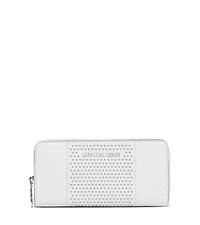 Jet Set Micro-Stud Saffiano Leather Wallet - Optic White - 32F4SJDZ3L
