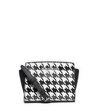 Selma Houndstooth Saffiano Leather Mini Messenger - ONE COLOR - 32F4SLMC1U