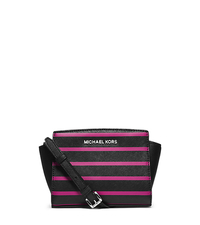 Selma Stripe Saffiano Leather Mini Messenger - ONE COLOR - 32F4SLRC1R