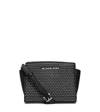 Selma Studded Saffiano Leather Mini Messenger - ONE COLOR - 32F4SMUC1L
