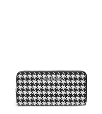 Jet Set Travel Houndstooth Saffiano Leather Continental - ONE COLOR - 32F4STVE3U