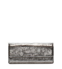 Jet Set Travel Lizard-Pattern Embossed Leather Wallet - ONE COLOR - 32F4STVE7K