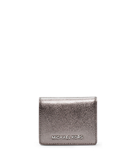 Jet Set Travel Metallic Saffiano Leather  Card Holder - ONE COLOR - 32F4STVF2M