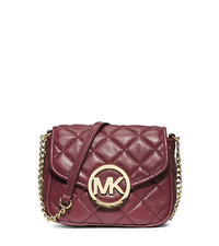 Fulton Quilted-Leather Crossbody - CLARET - 32H3GFQC1L