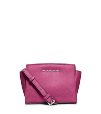 Selma Saffiano Leather Mini Messenger - DEEP PINK - 32H3SLMC1L