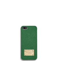 Saffiano Leather Phone Case For iPhone 5 - GOOSEBERRY - 32S4GELL1L