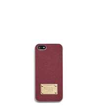 Saffiano Leather Phone Case For iPhone 5 - CLARET - 32S4GELL1L