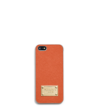 Saffiano Leather Phone Case For iPhone 5 - ORANGE - 32S4GELL1L