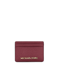 Jet Set Travel Saffiano Leather Cardholder - CLARET - 32S4GTVD1L