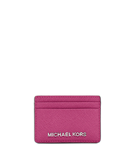 Jet Set Saffiano Leather Card Case - DEEP PINK - 32S4STVD1L