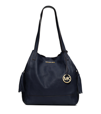 Ashbury Leather Extra Large Shoulder Bag - NAVY - 30F4GABT4L