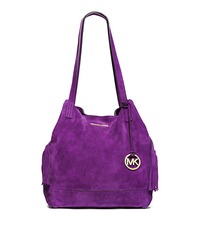 Ashbury Suede Extra-Large Shoulder Bag - VIOLET - 30F4GABT4S