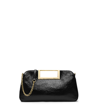 Berkley Patent-Leather Large Clutch - BLACK - 30F4GBKC3A