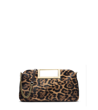 Berkley Leopard-Print Hair Calf Clutch - ONE COLOR - 30F4GBKC3H