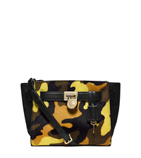 Hamilton Traveler Camouflage Hair Calf Messenger - ACID YELLOW - 30F4GHXM2H